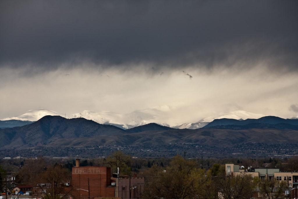 Morning storms over Mount Evans - April 26, 2011