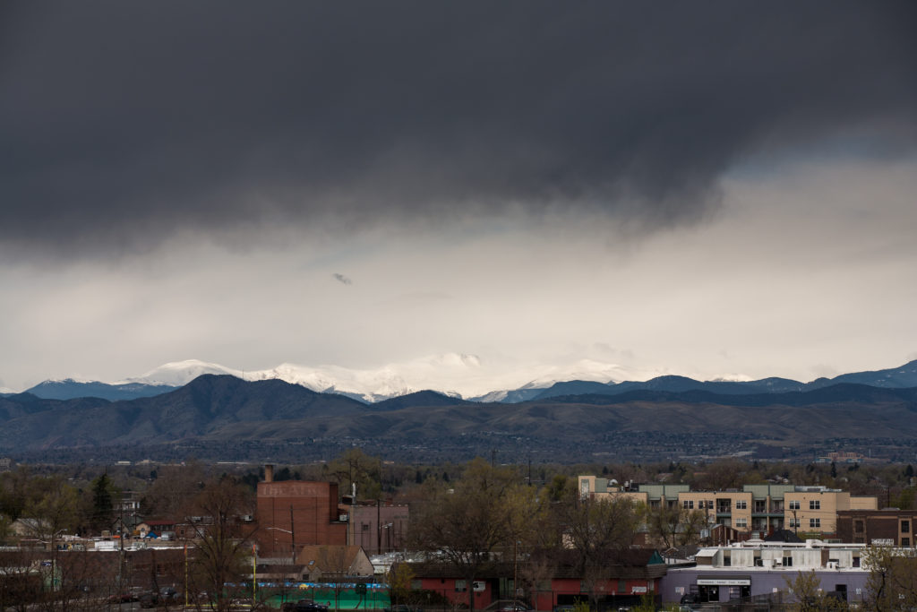 Clearing storm over Mount Evans - April 26, 2011