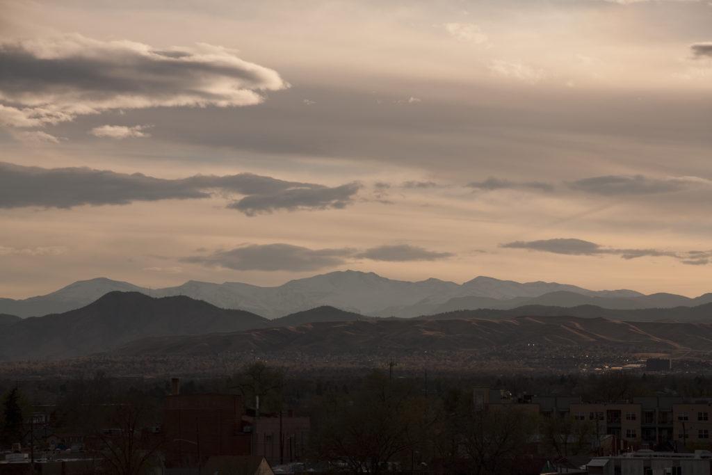 Mount Evans sunset - April 28, 2011
