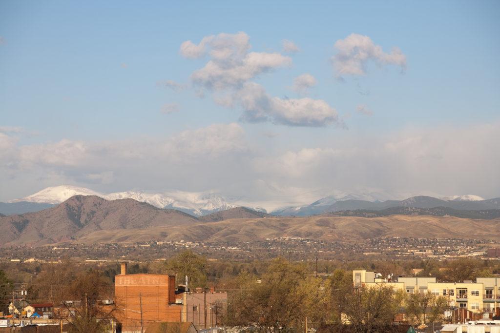 Mount Evans sunrise - April 29, 2011