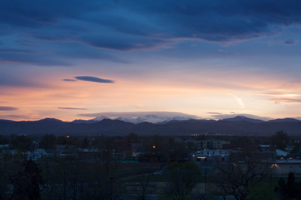 Mount Evans sunset - May 3, 2011