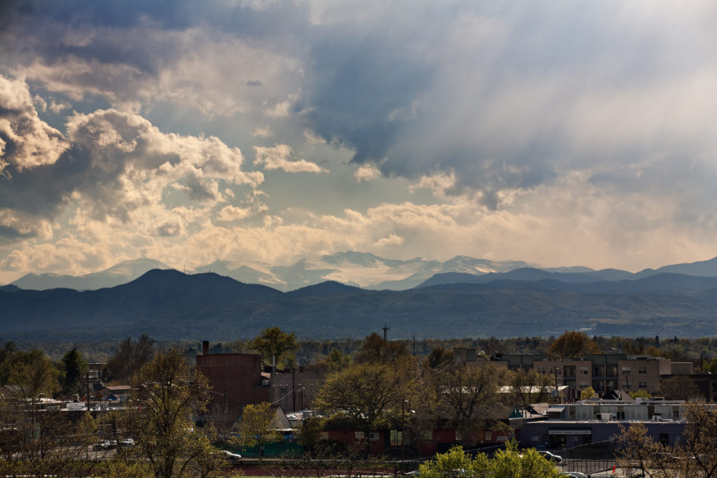 Mount Evans and clouds at sunset - May 4, 2011