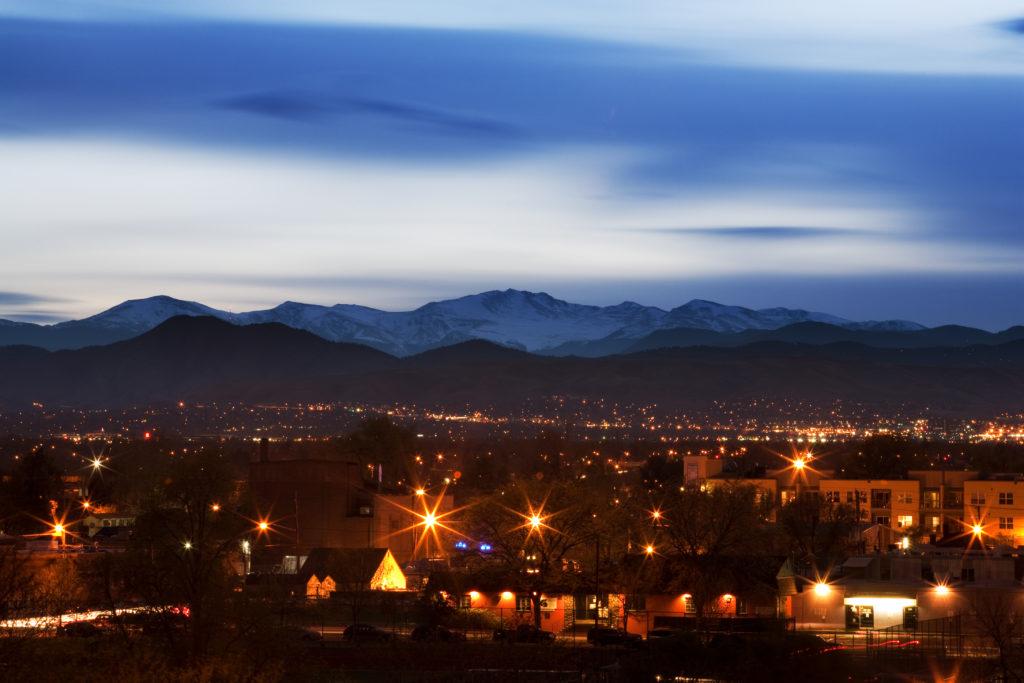 Mount Evans after sunset - March 6, 2011