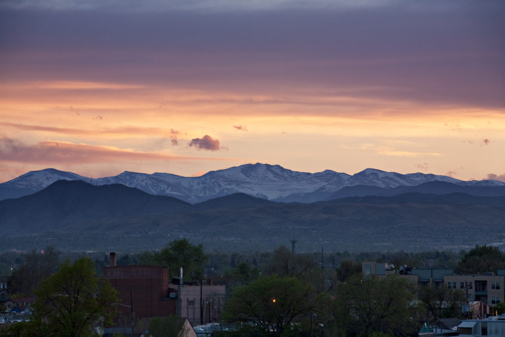 Mount Evans sunset - May 8, 2011