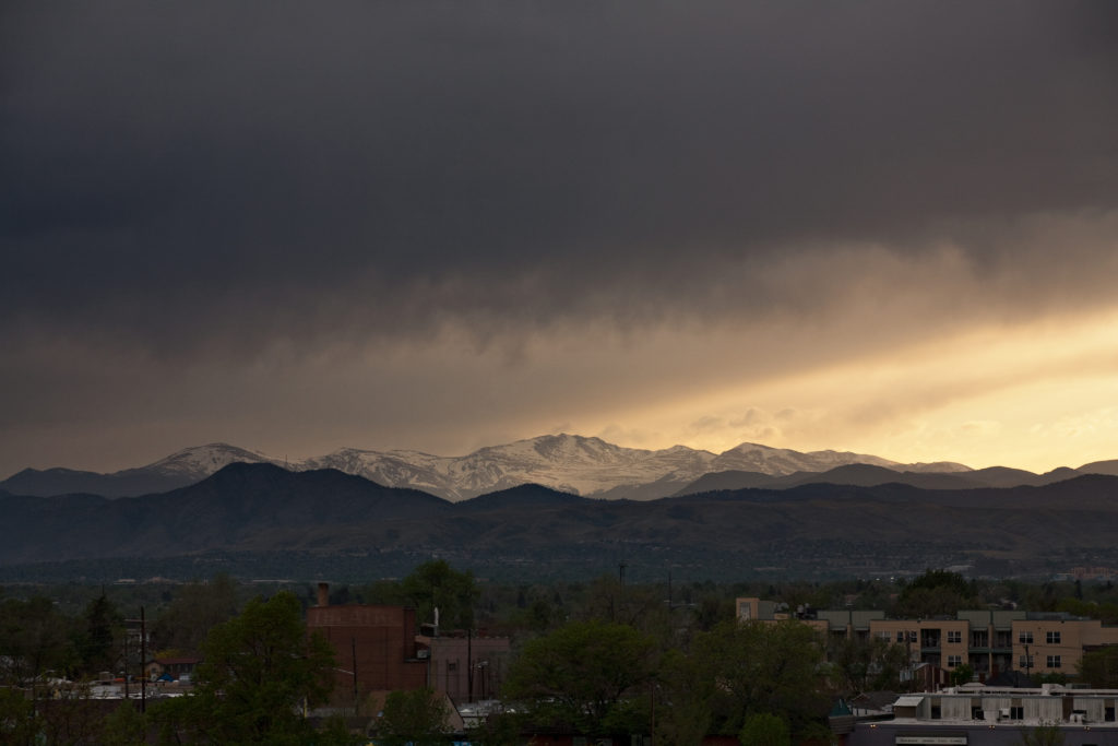 Mount Evans sunset - May 10, 2011