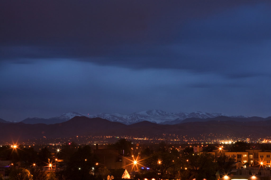 Mount Evans at night - May 10, 2011