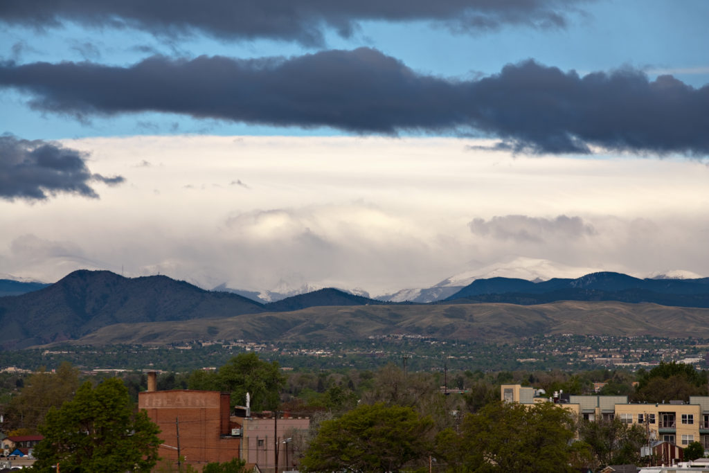 Mount Evans obscured at sunrise - May 21, 2011
