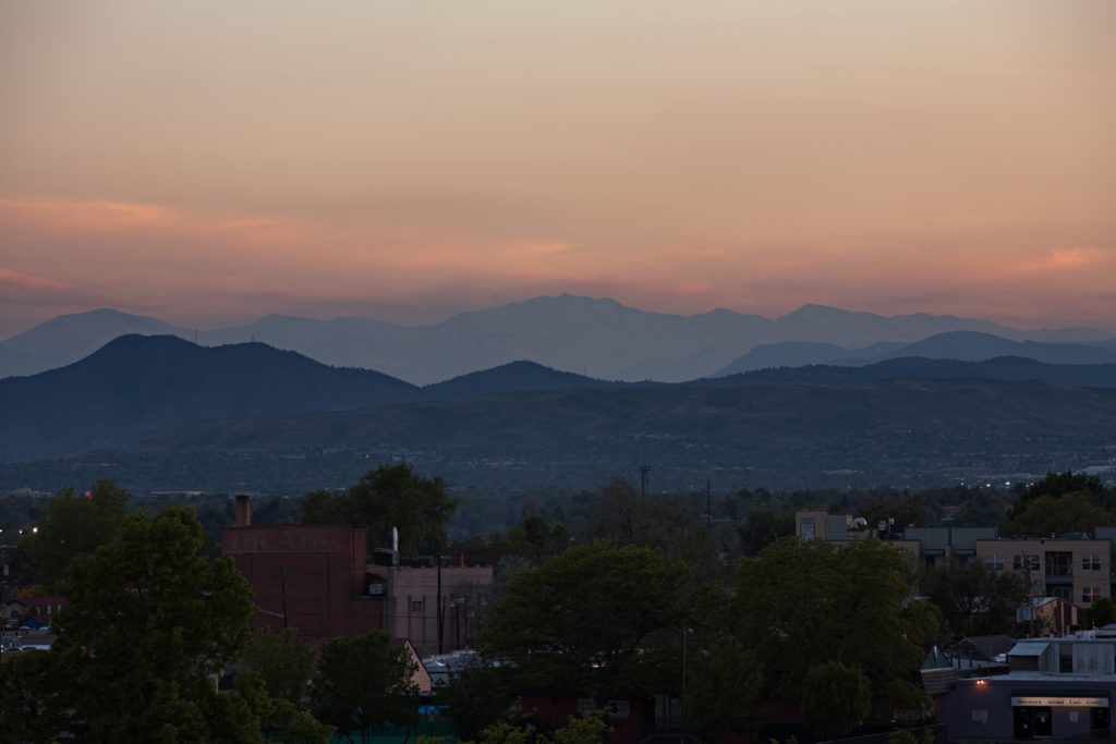 Mount Evans sunset - May 25, 2011