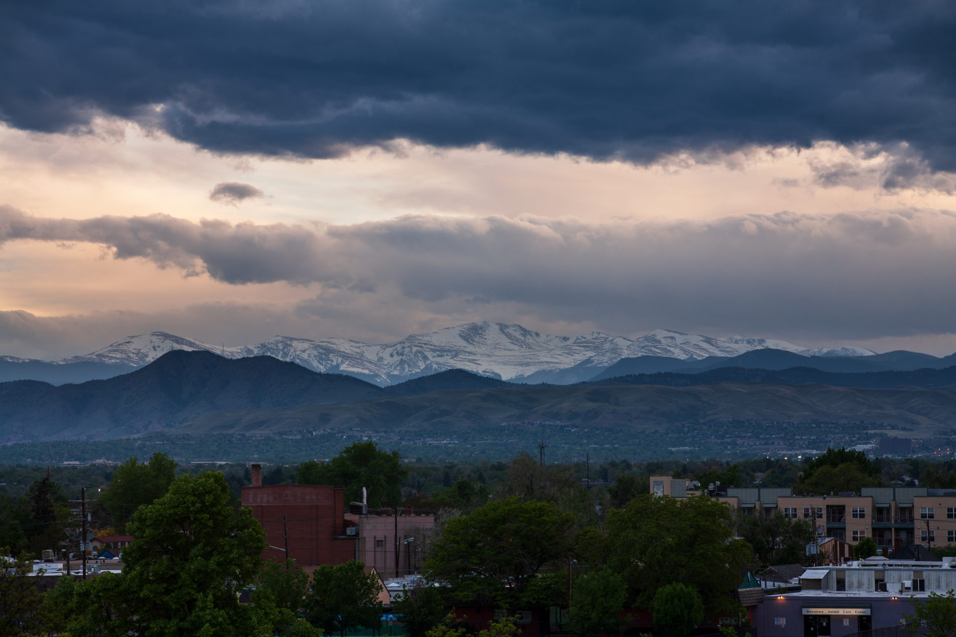 Mount Evans sunset - May 27, 2011