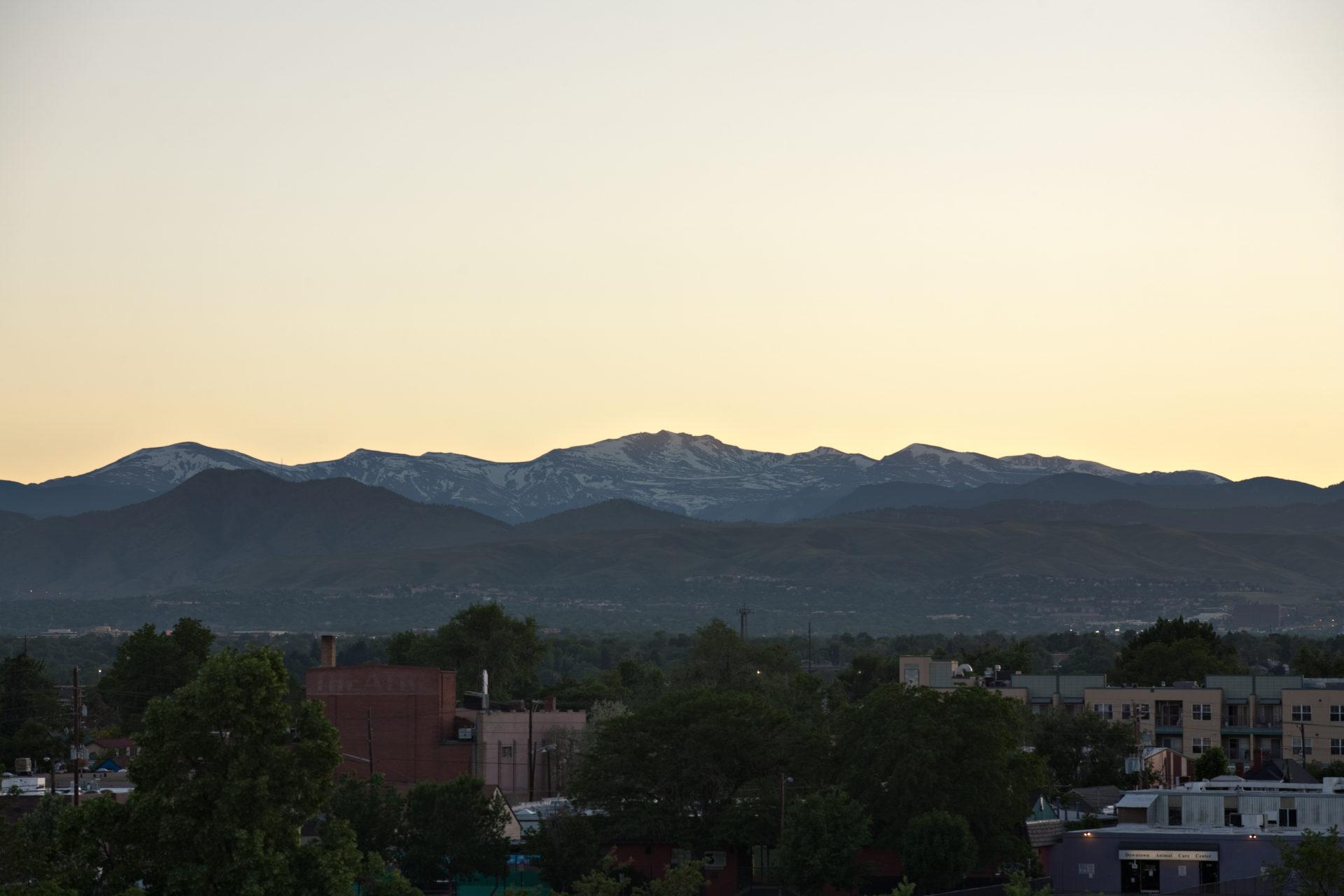 Mount Evans sunset - June 7, 2011