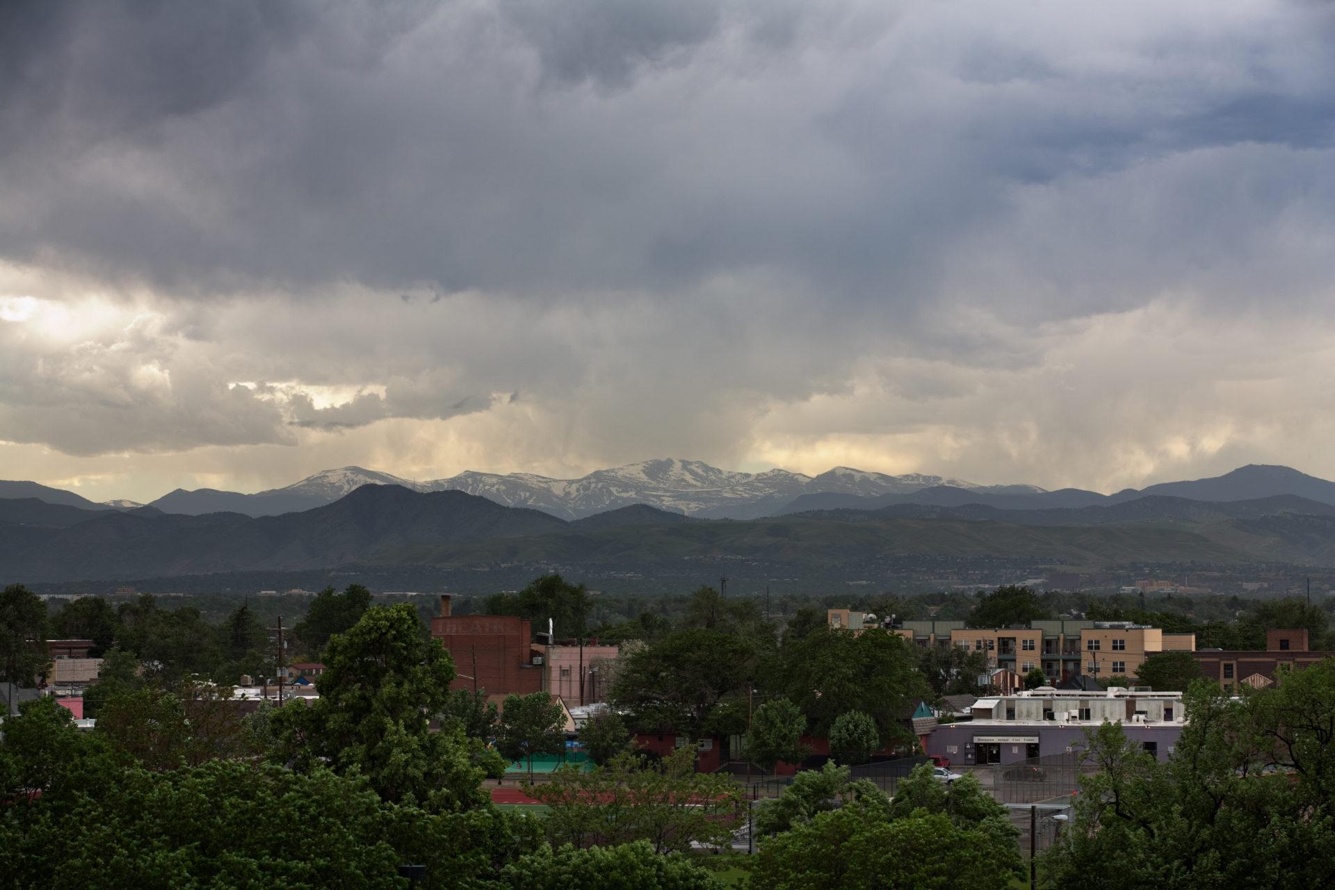 Mount Evans sunset - June 8, 2011