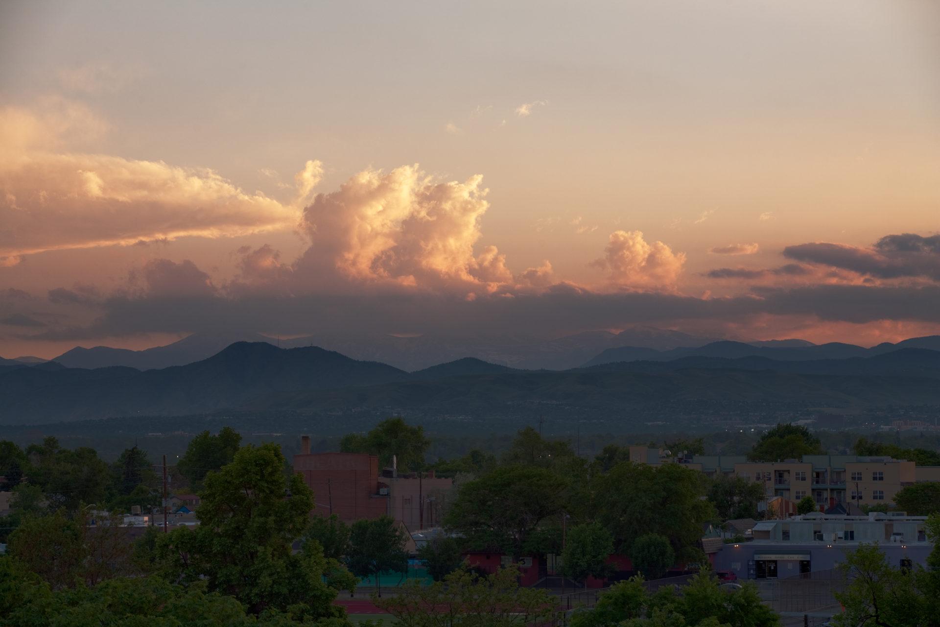 Mount Evans sunset - June 10, 2011