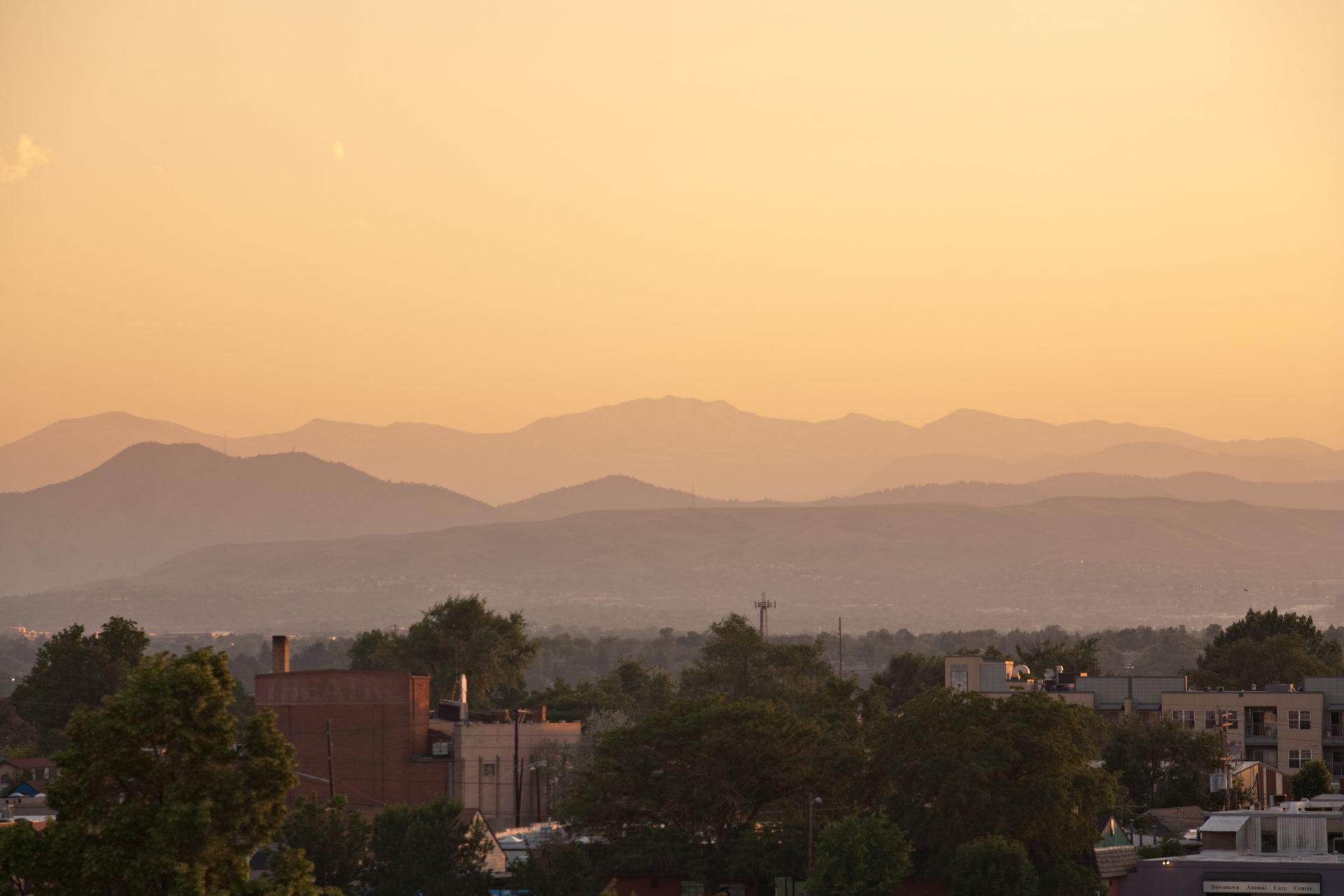 Mount Evans sunset - June 11, 2011