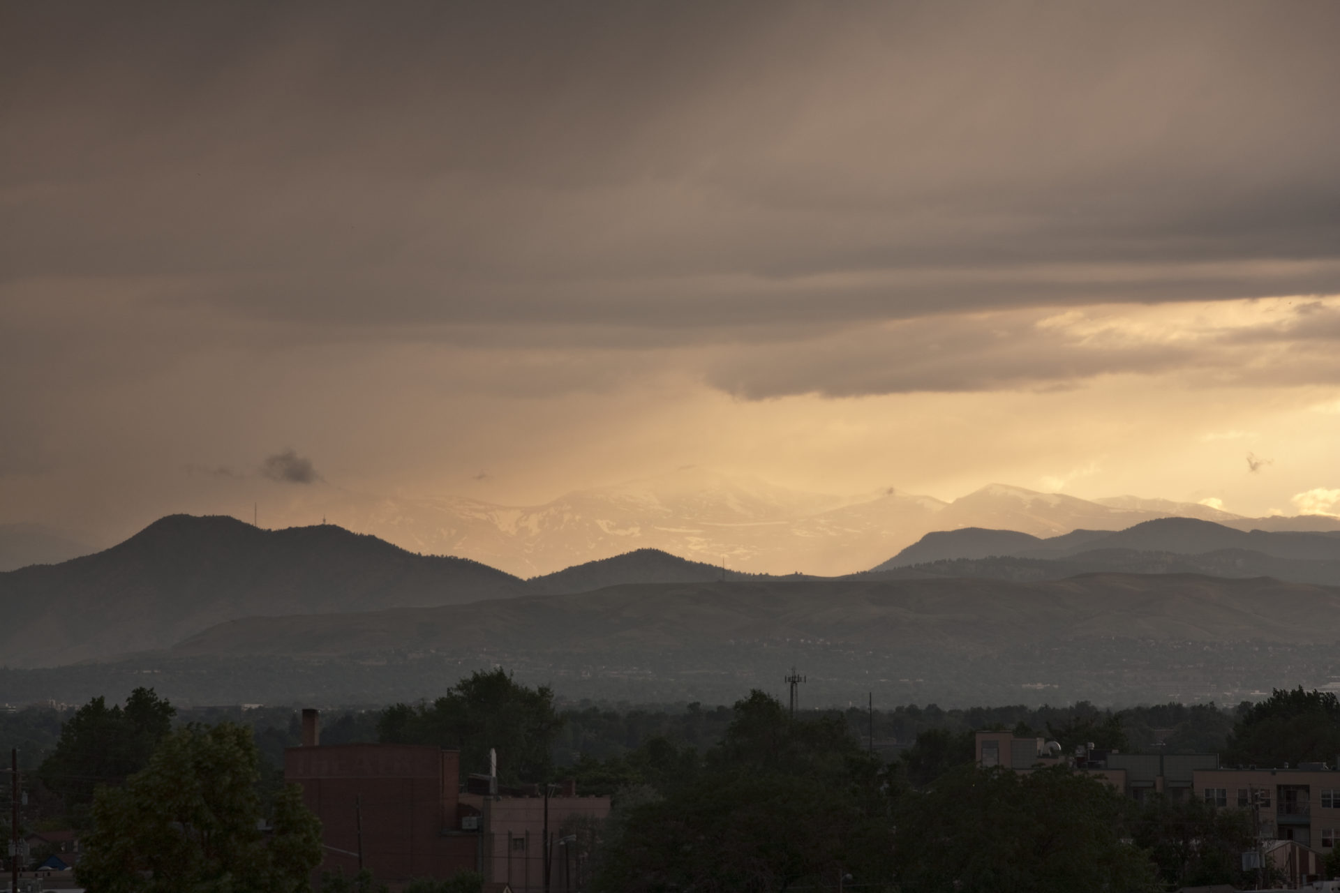 Mount Evans sunset - June 19, 2011