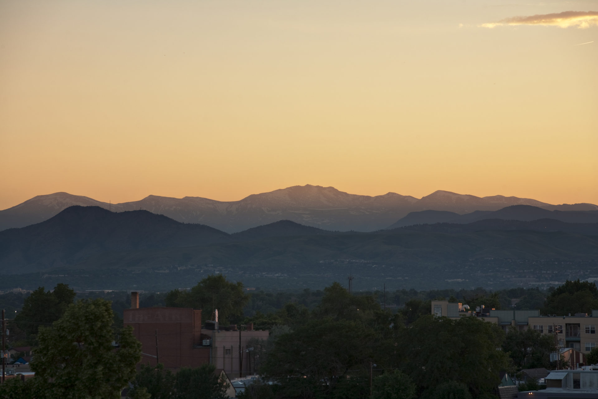 Mount Evans sunset - June 22, 2011