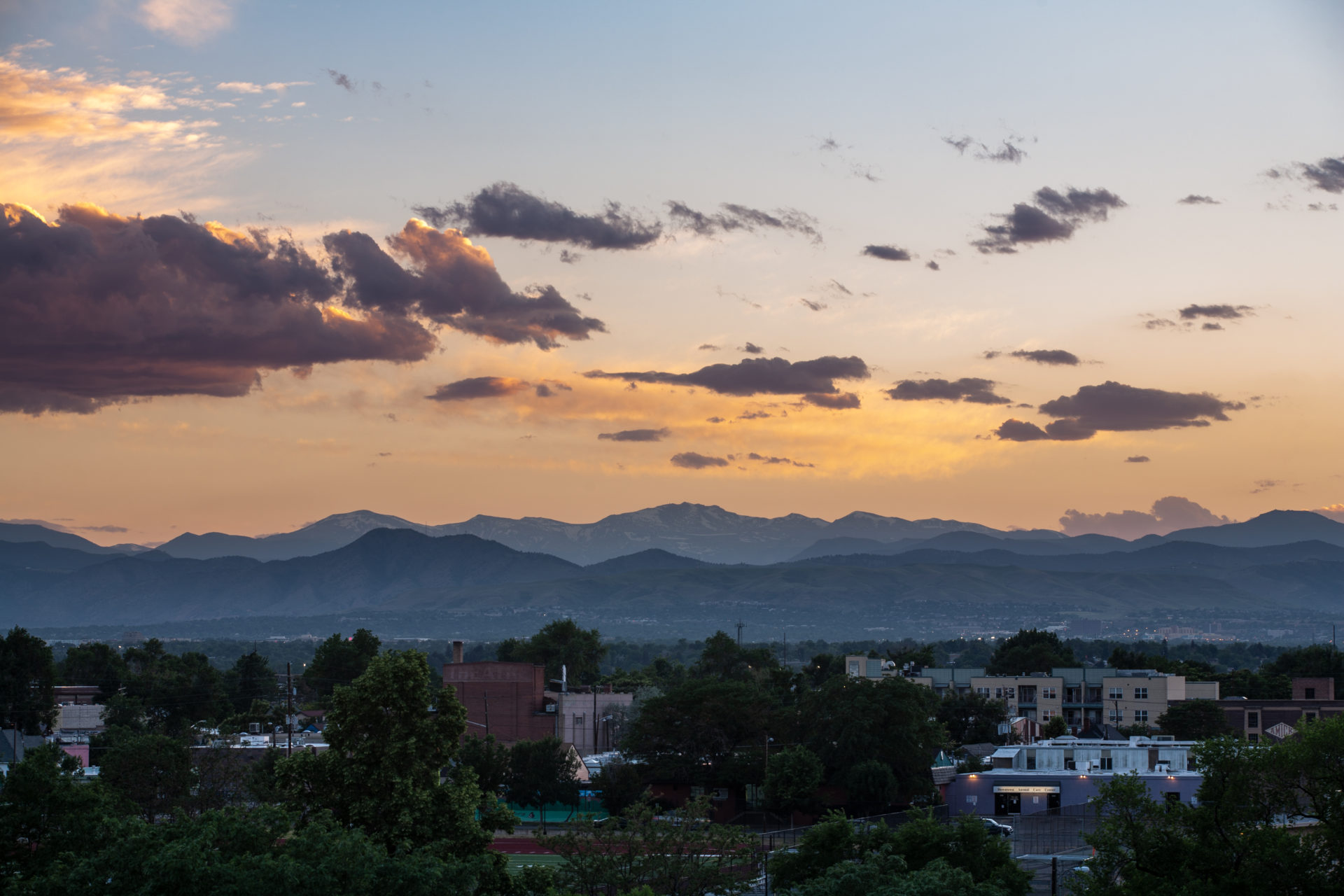 Mount Evans sunset - June 23, 2011