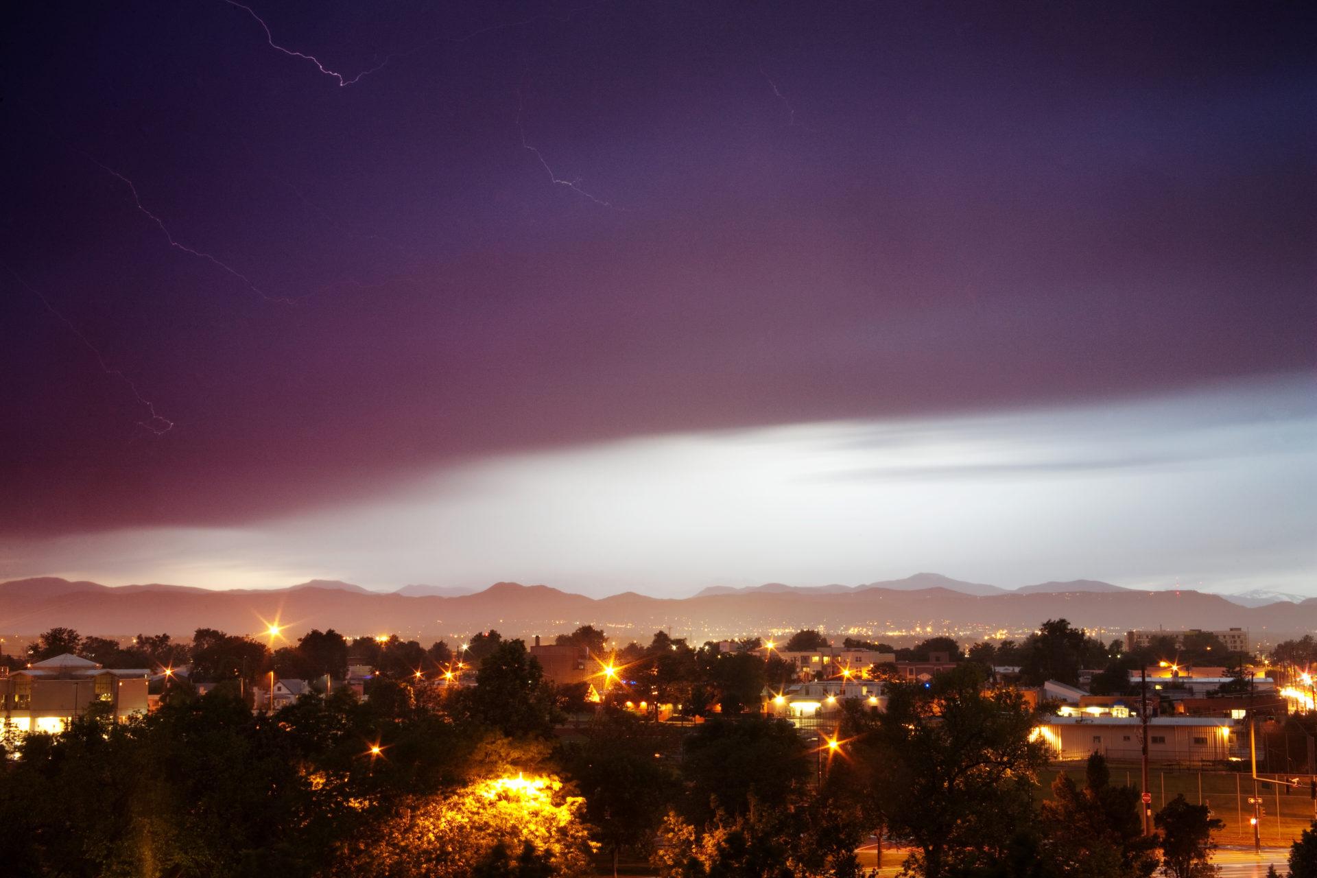 Mount Evans and lightning - June 30, 2011