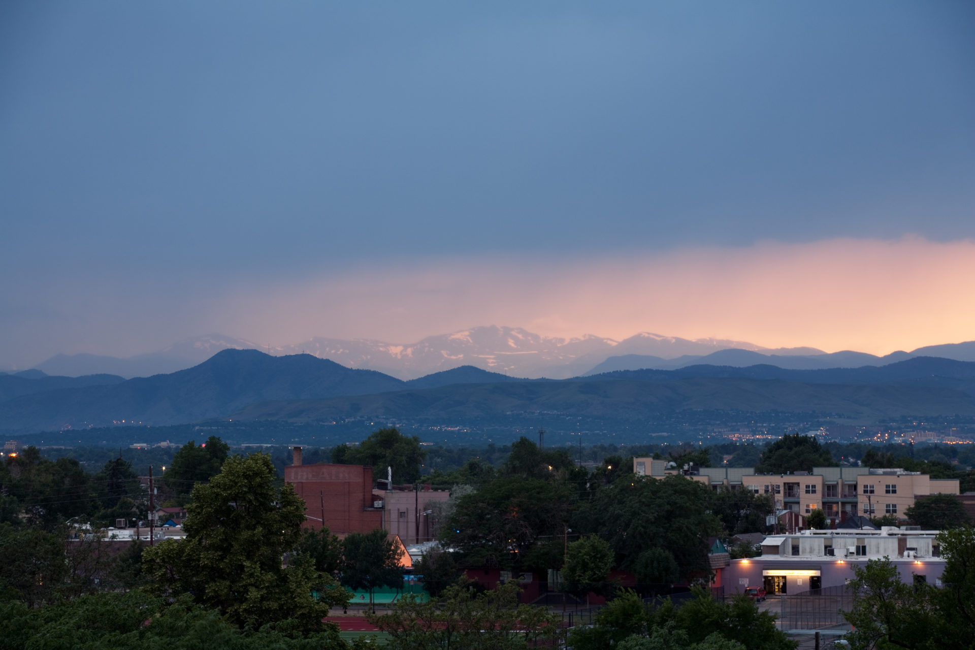 Mount Evans sunset - July 5, 2011