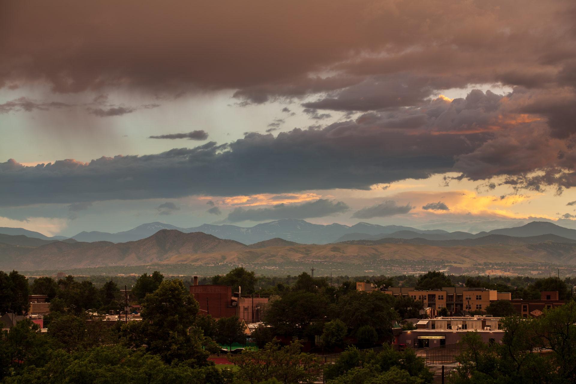 Mount Evans sunset - July 8, 2011