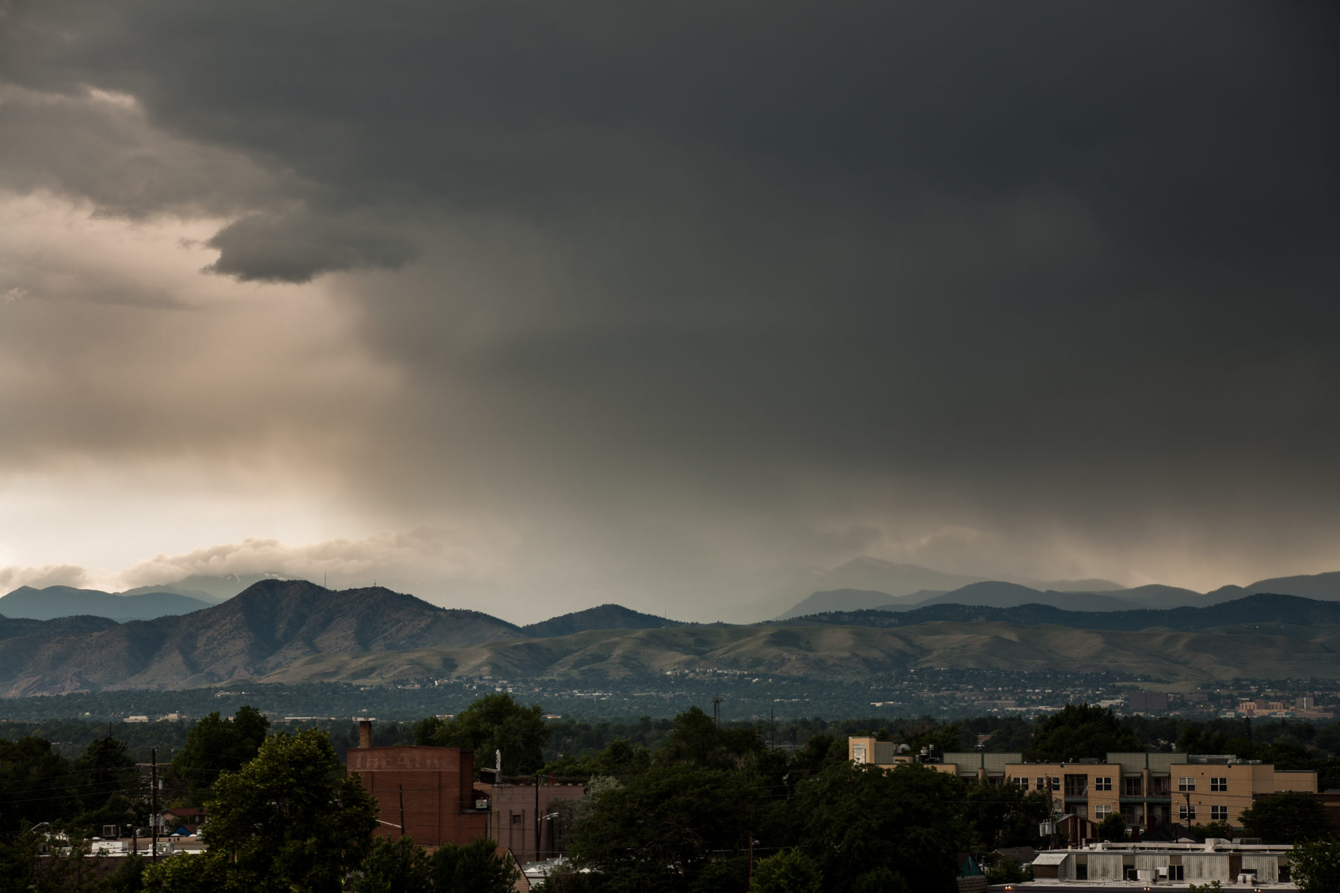 Mount Evans partially obscured - July 9, 2011