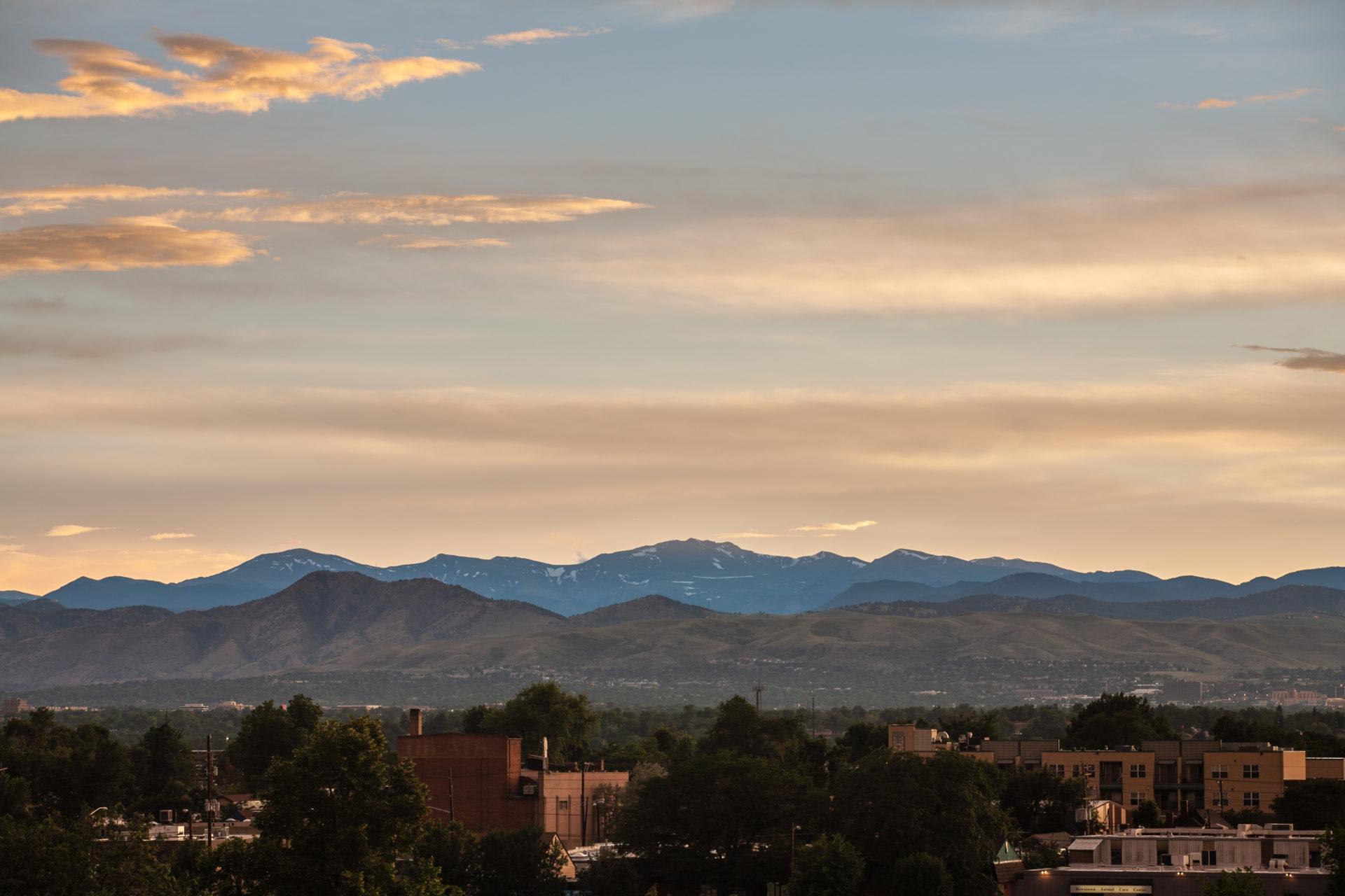 Mount Evans sunset - July 11, 2011