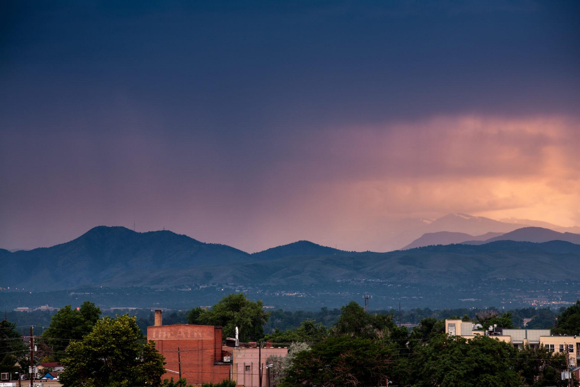 Mount Evans sunset - July 12, 2011