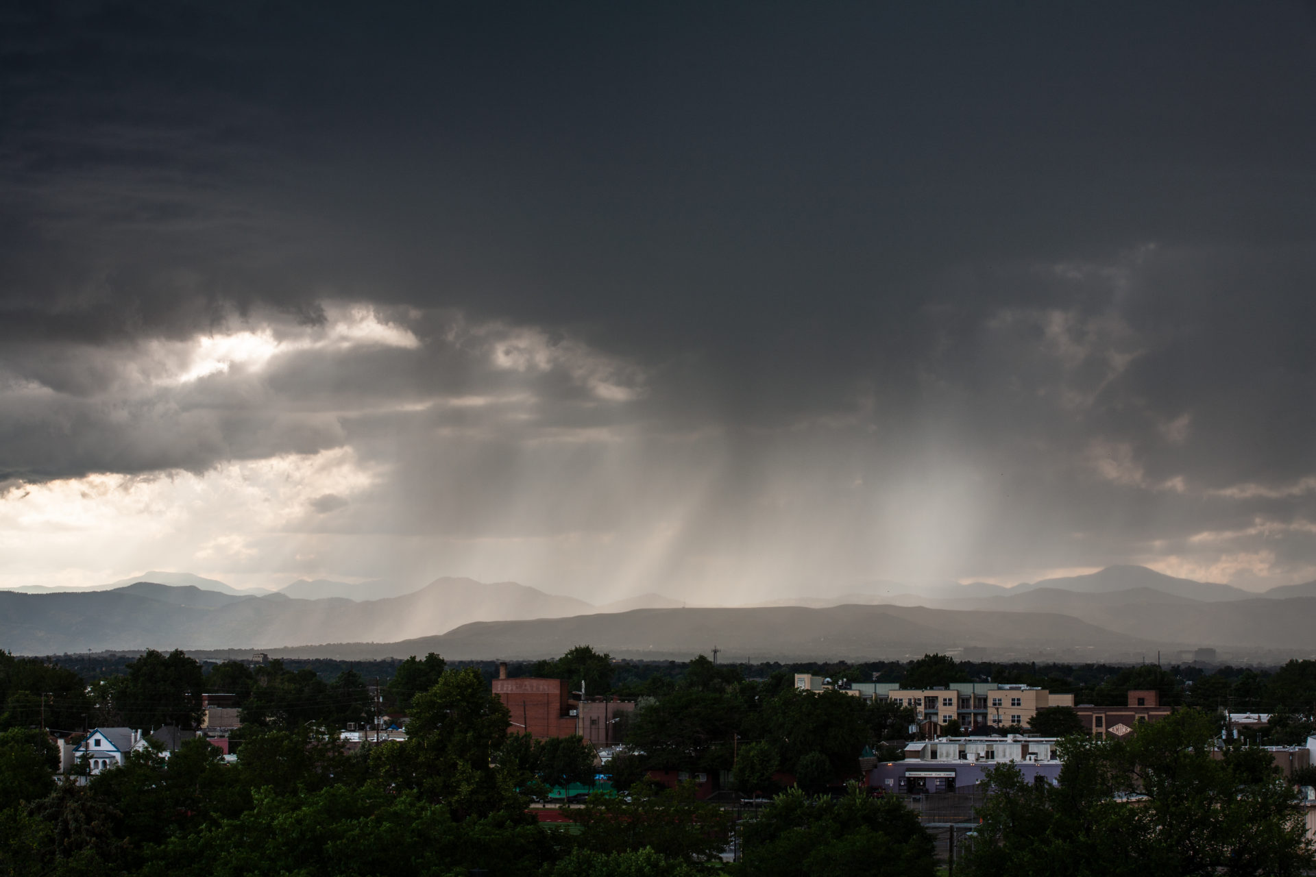 Mount Evans obscured by a storm - July 13, 2011