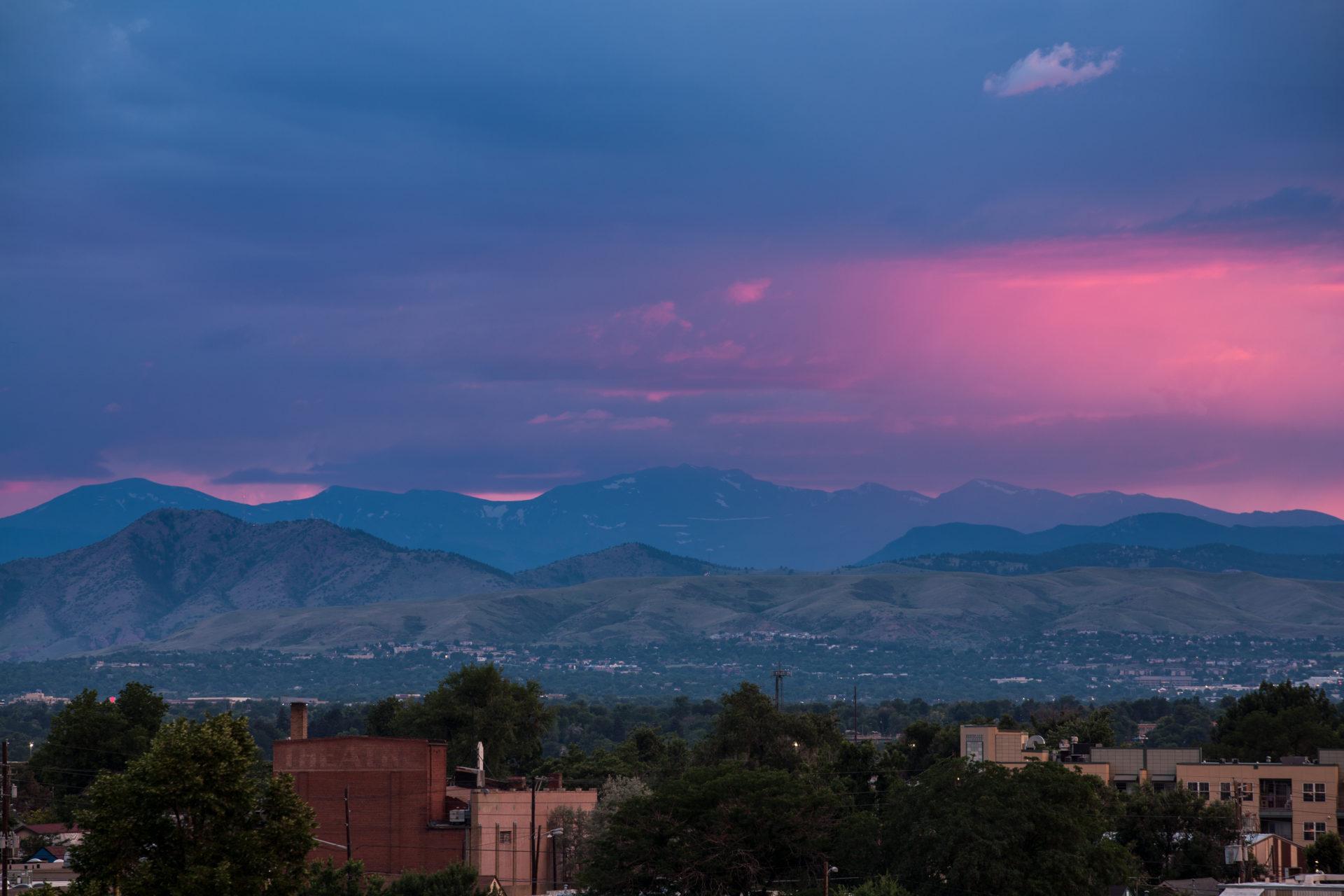 Mount Evans sunset - July 15, 2011