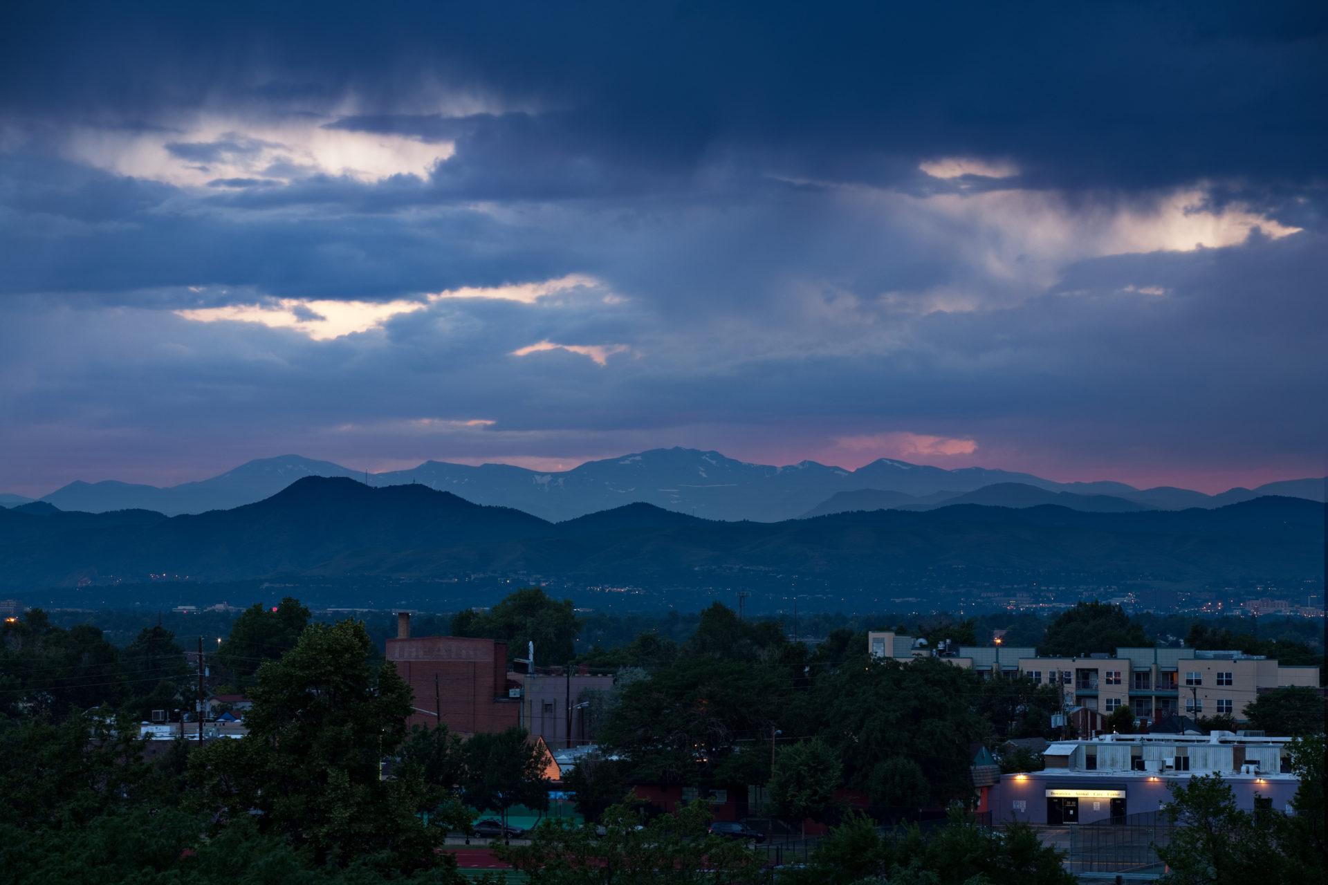 Mount Evans sunset - July 16, 2011