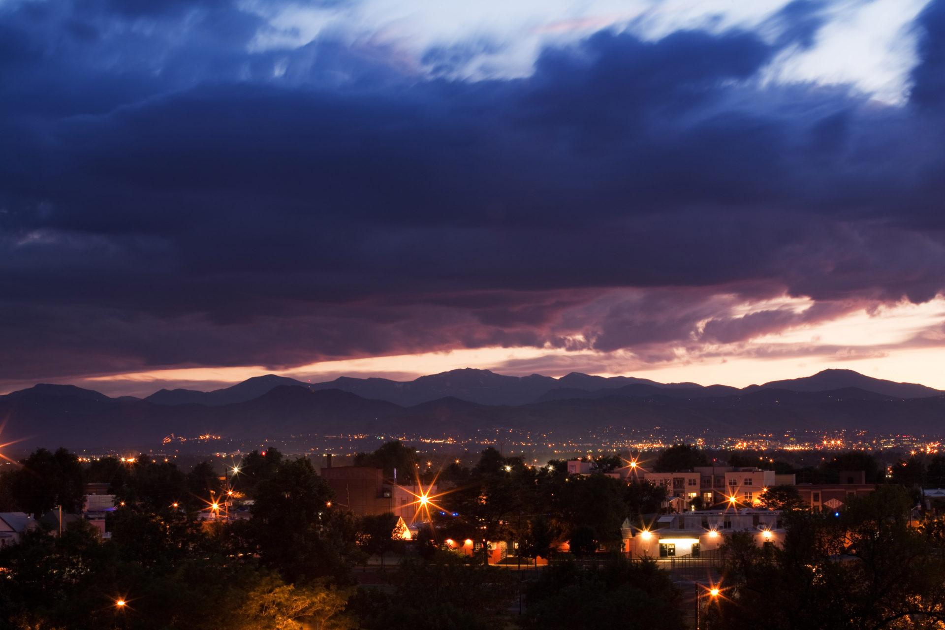 Mount Evans sunset - July 20, 2011