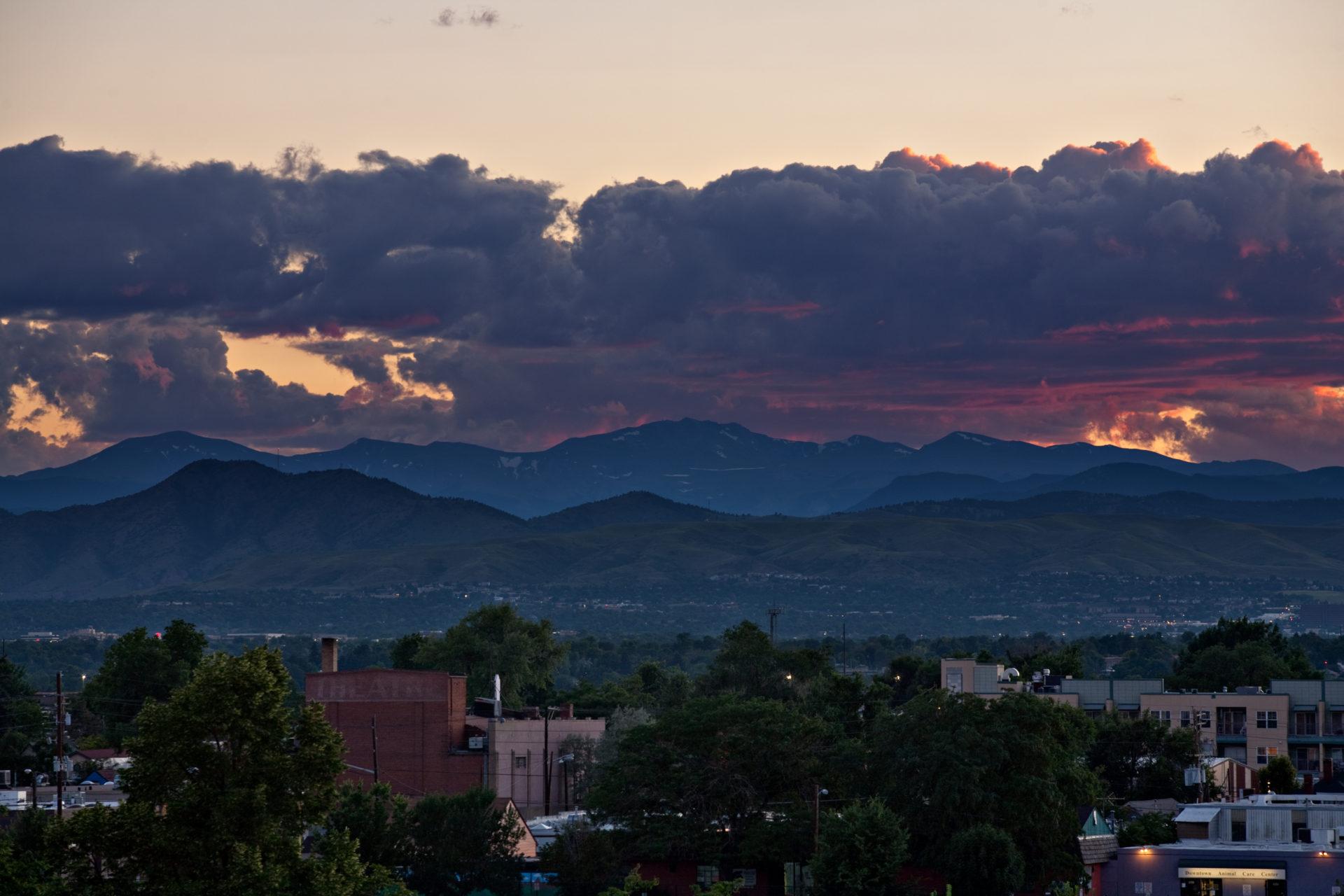 Mount Evans sunset - July 21, 2011