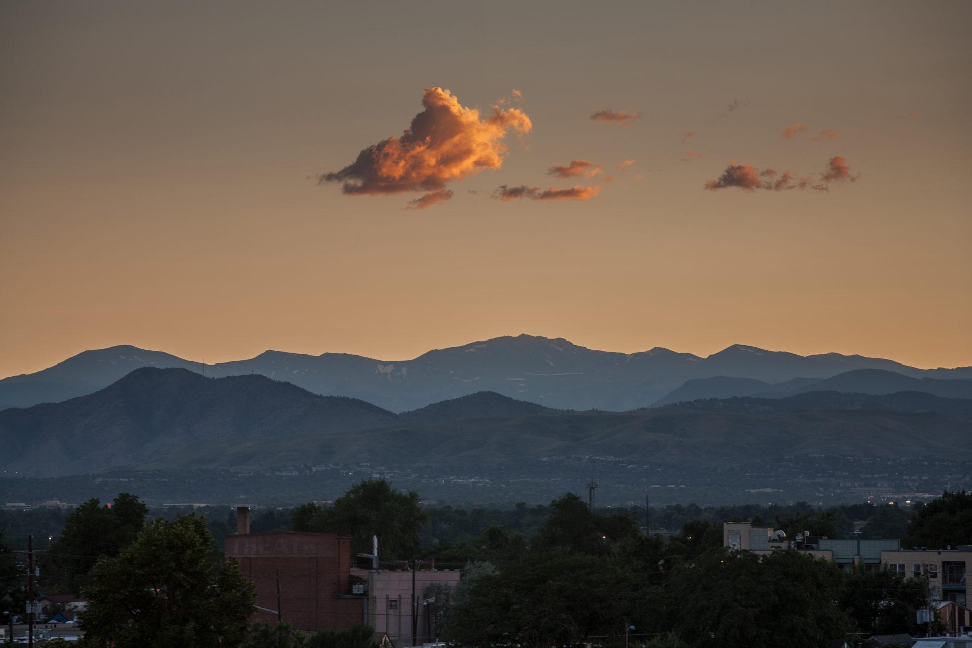 Mount Evans sunset - July 22, 2011