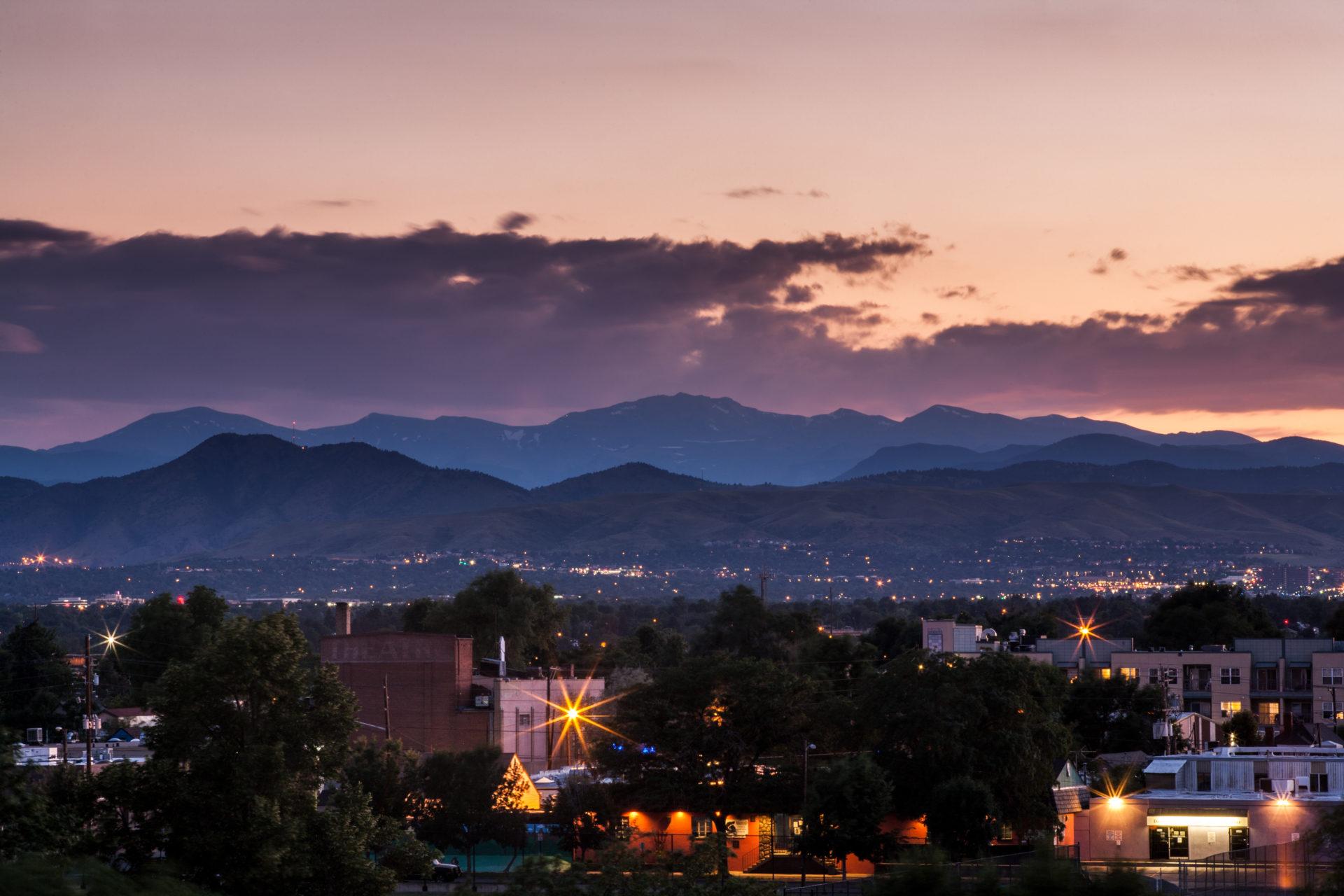 Mount Evans sunset - July 23, 2011