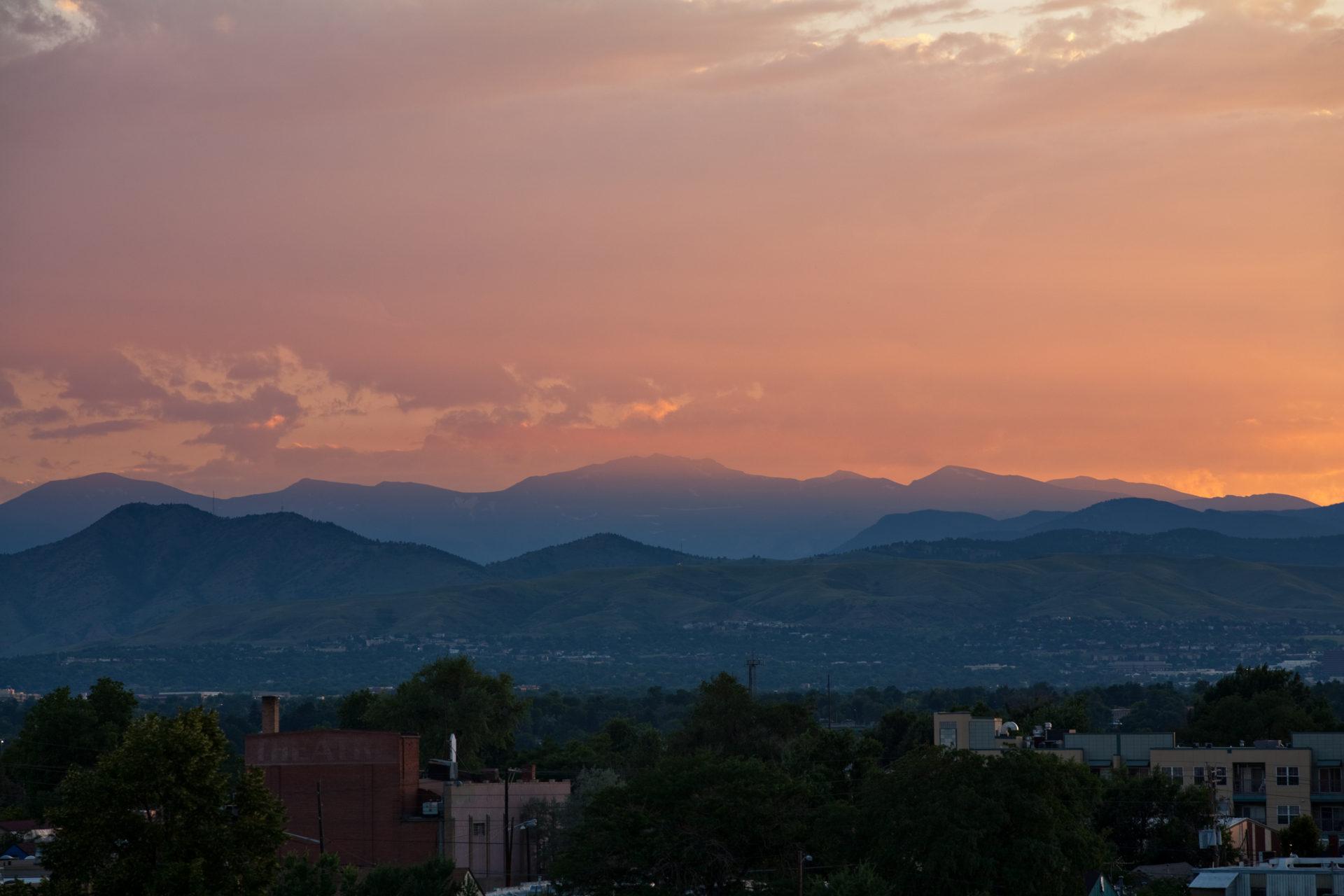 Mount Evans sunset - July 24, 2011