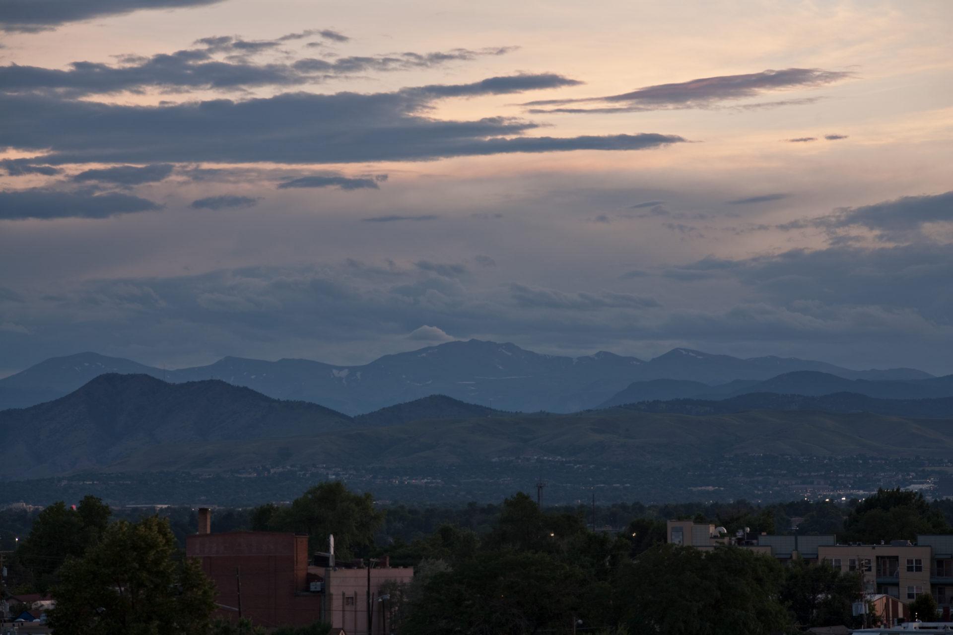 Mount Evans after sunset - July 25, 2011