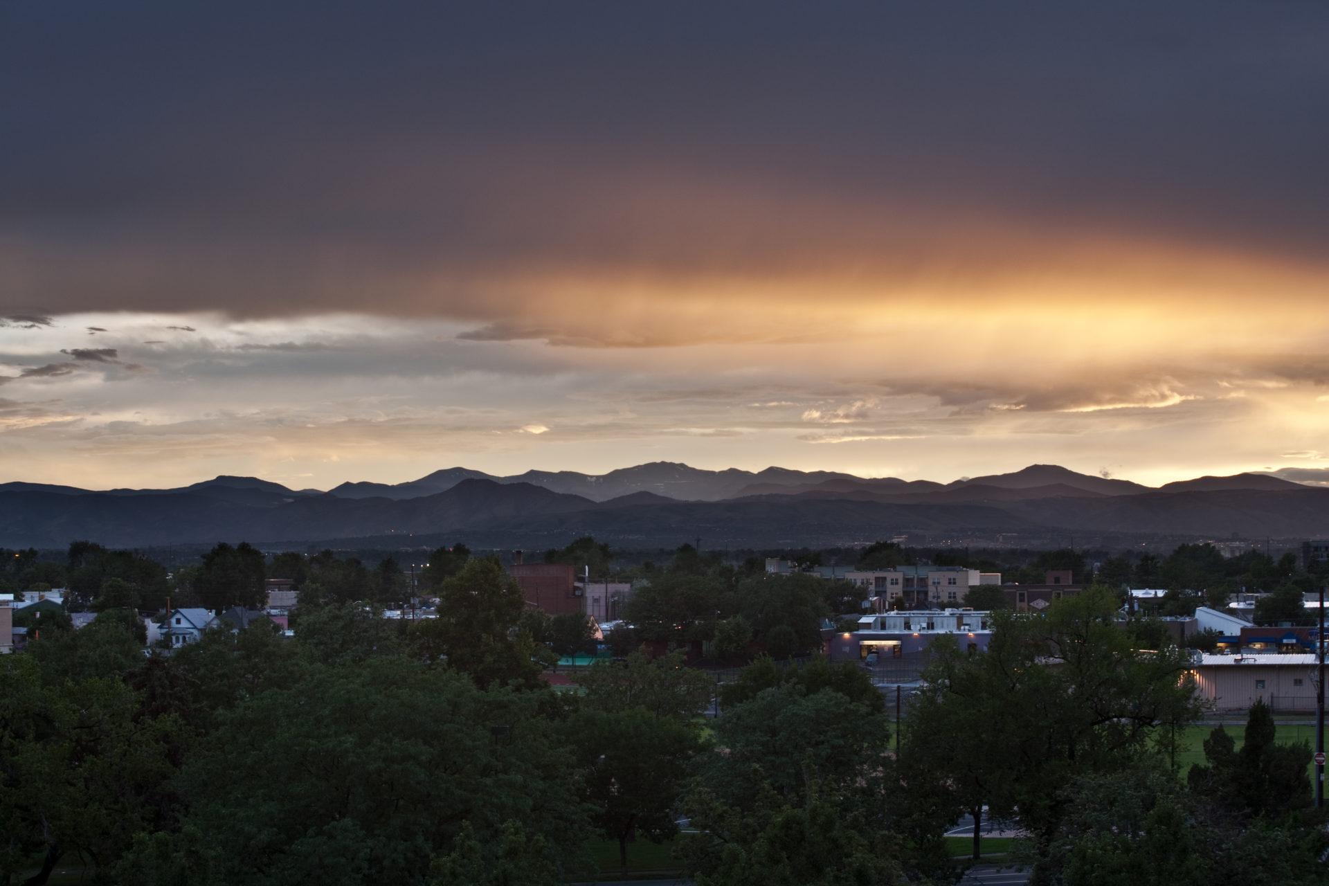 Mount Evans sunset - July 26, 2011
