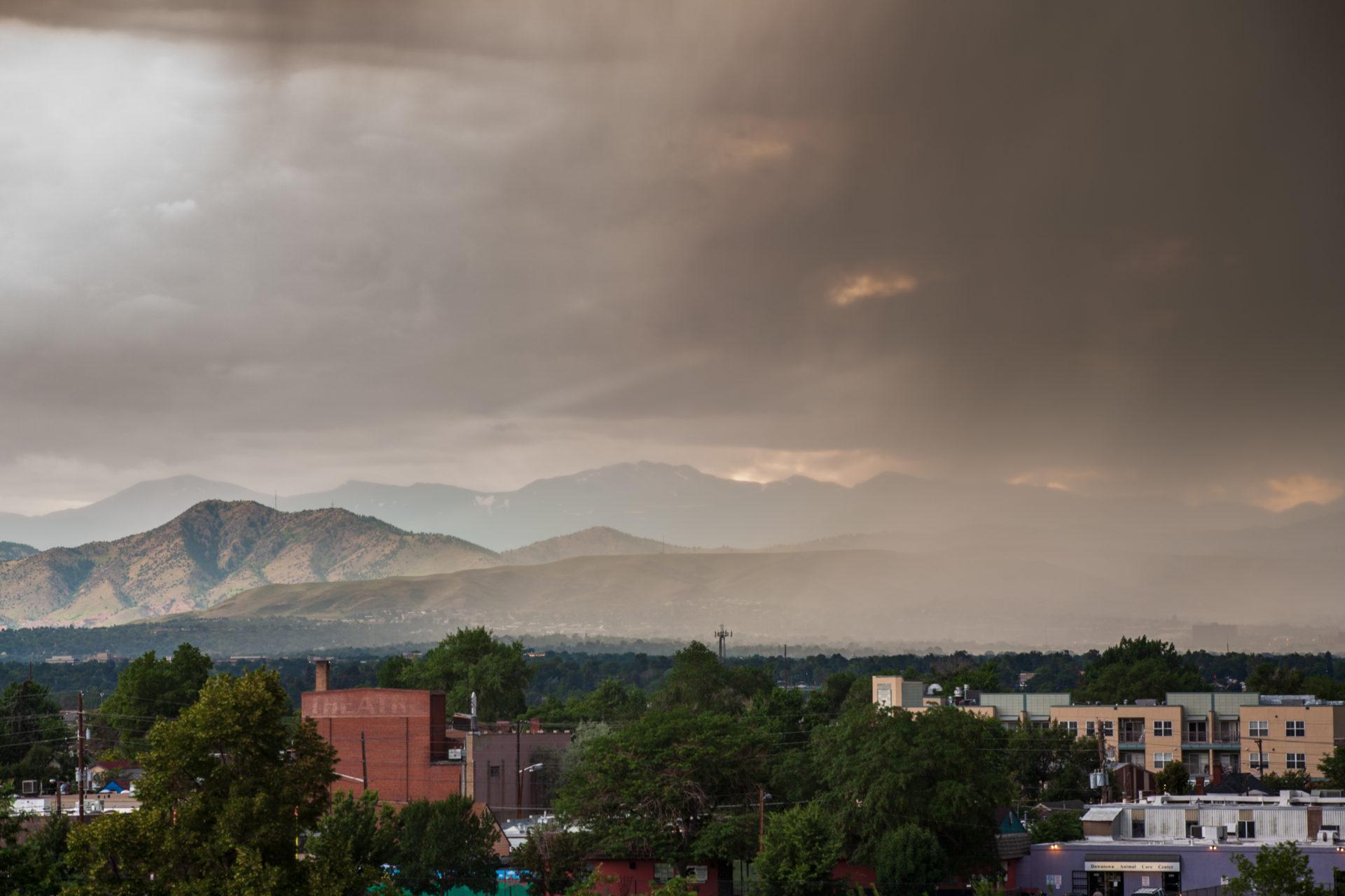 Mount Evans afternoon storm - July 27, 2011