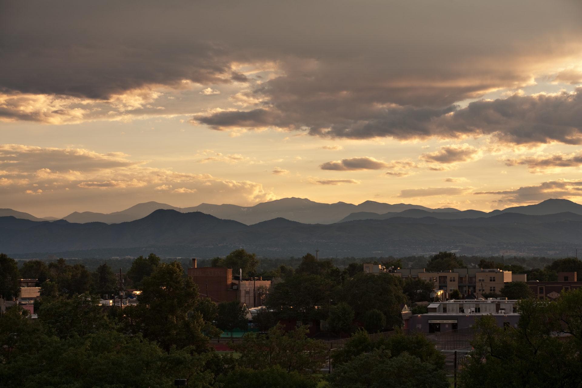 Mount Evans sunset - July 28, 2011