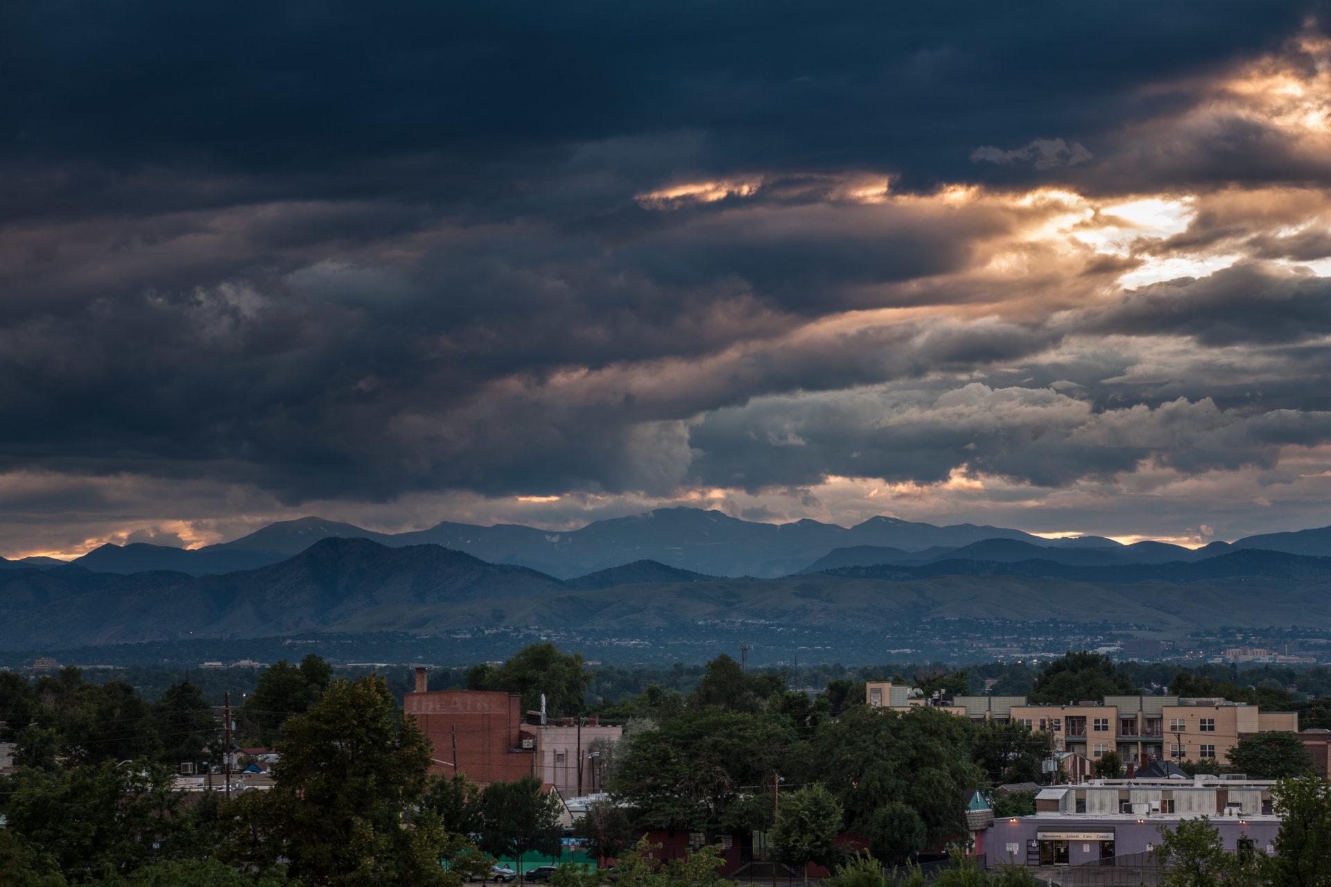 Mount Evans sunset - August 1, 2011