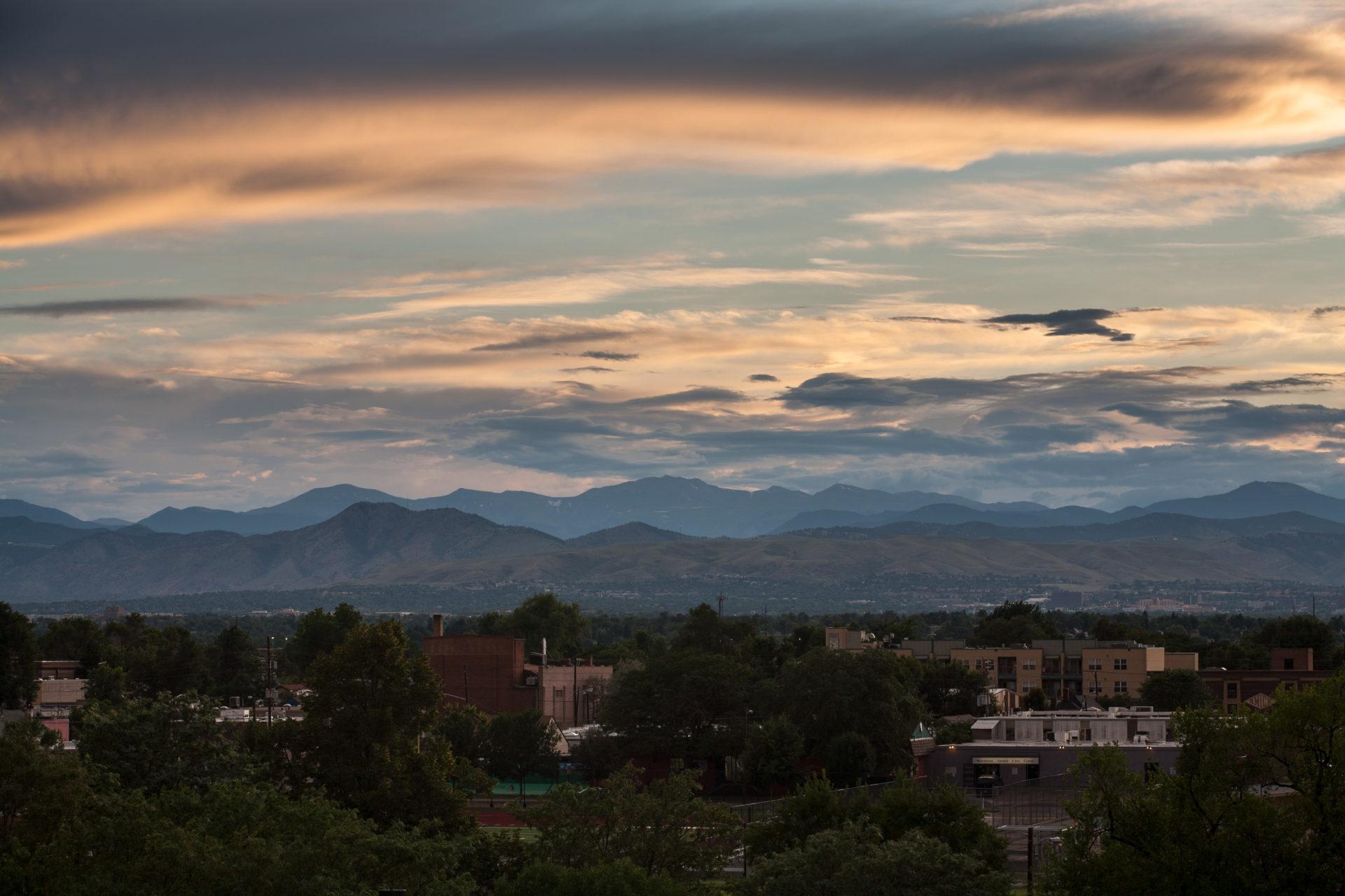 Mount Evans sunset - August 3, 2011