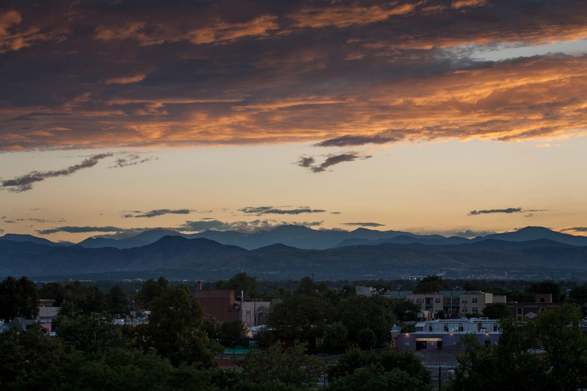 Mount Evans sunset - August 4, 2011