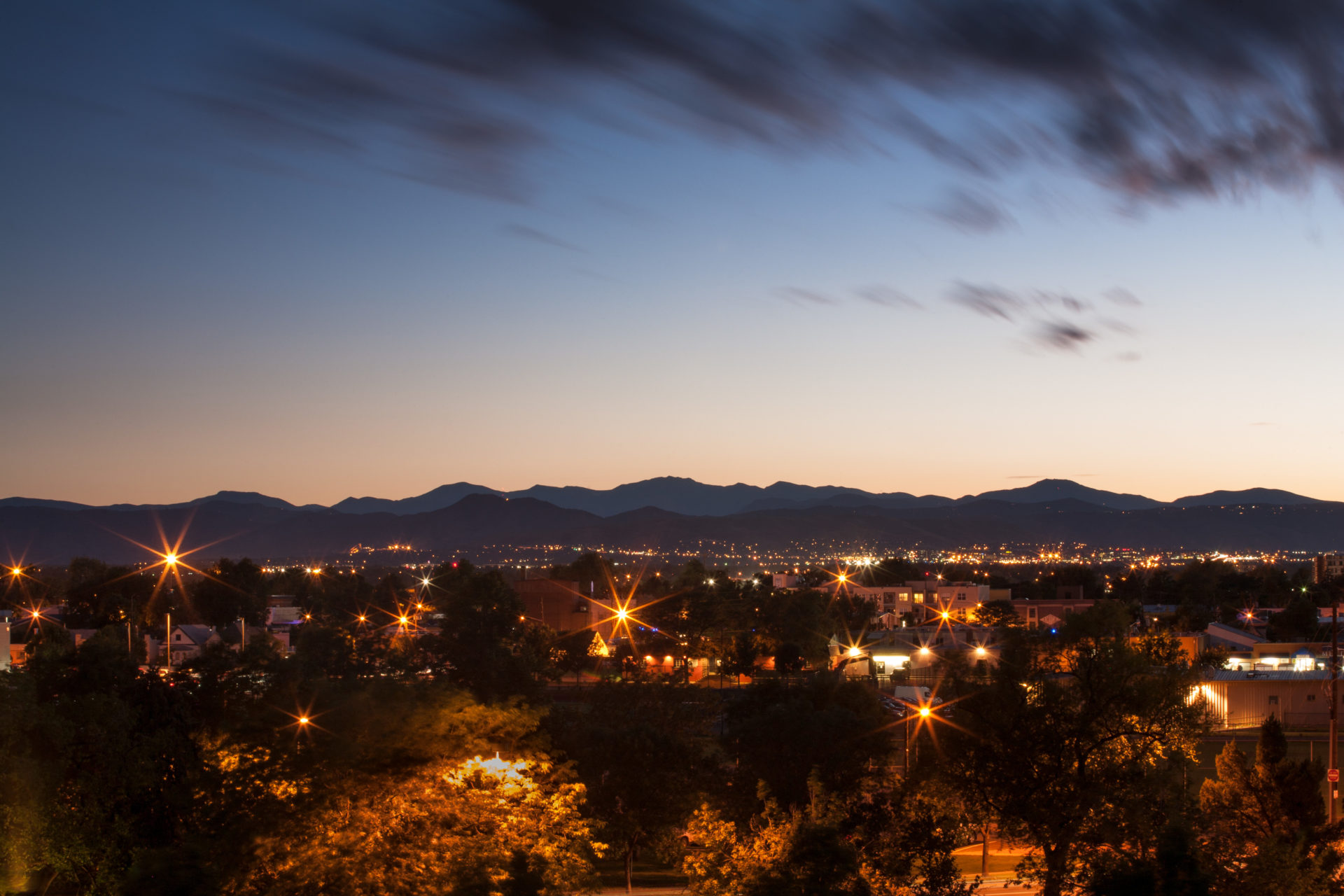 Mount Evans sunset - August 5, 2011